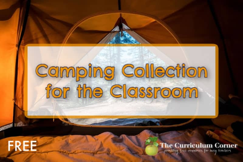 Create a camping theme in the classroom with the help of this free collection from The Curriculum Corner.