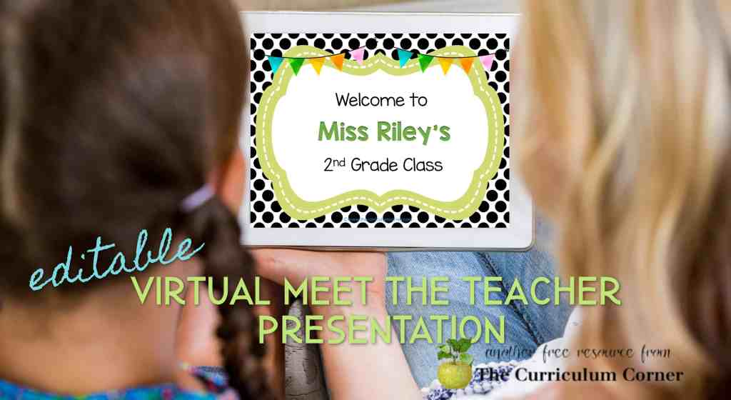 Modify this free virtual meet the teacher presentation to welcome your families to your classroom.