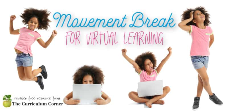 Download this free movement break for virtual learning to give your kids a break from too much sitting.
