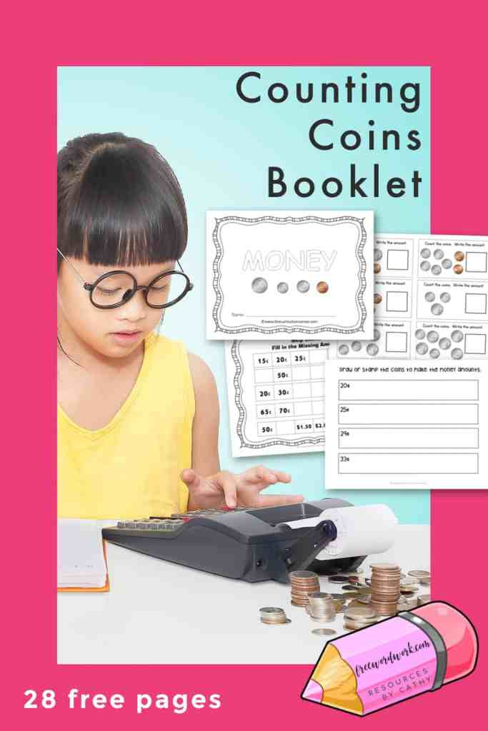 This counting money practice booklet is designed to give your students practice counting coins.