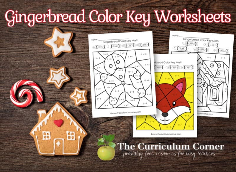 This set of gingerbread color key math practice pages gives children practice with addition and subtraction facts.