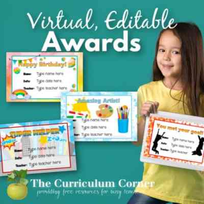 Editable, Virtual Award Certificates
