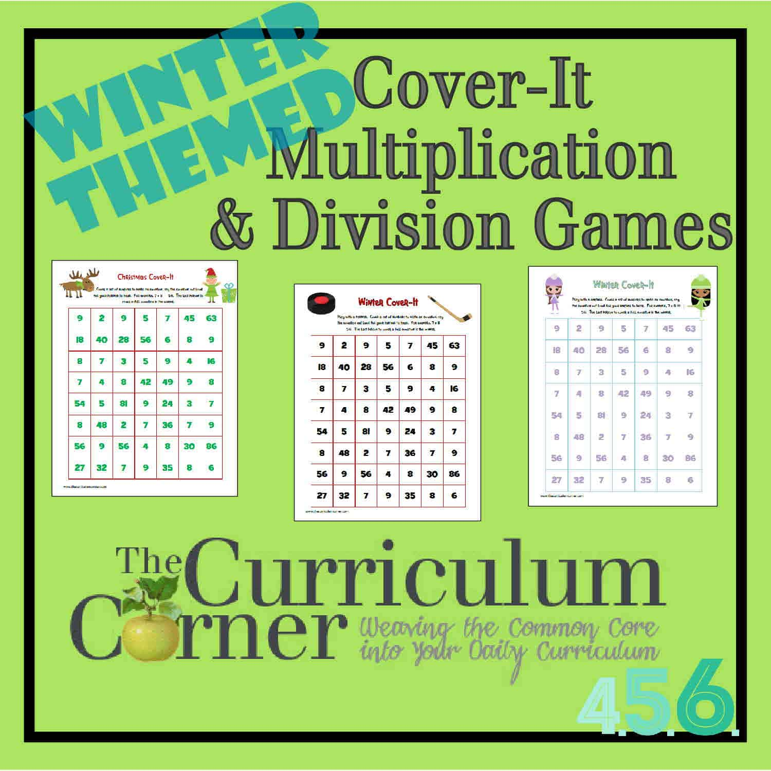 Winter Cover It Multiplication Amp Division Games