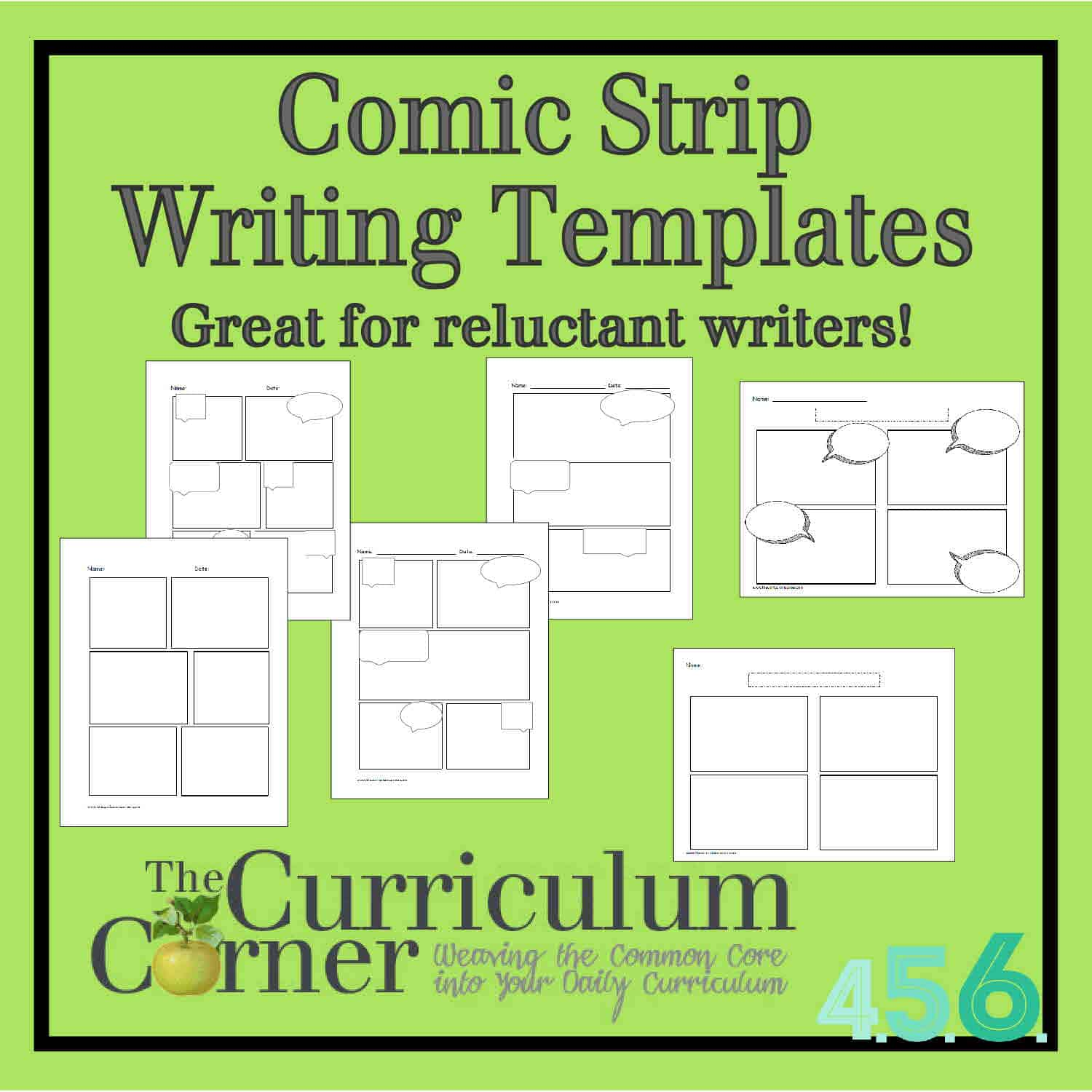 Comic Strip Writing Templates