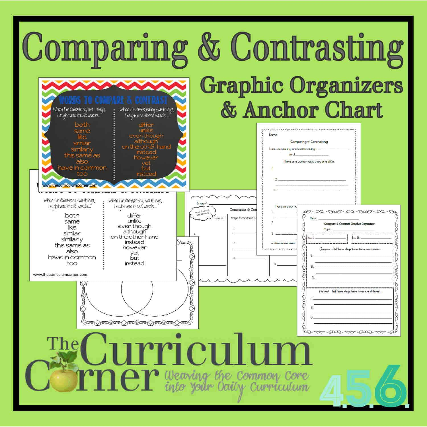 Comparing Amp Contrasting Writing Anchor Chart Amp Graphic