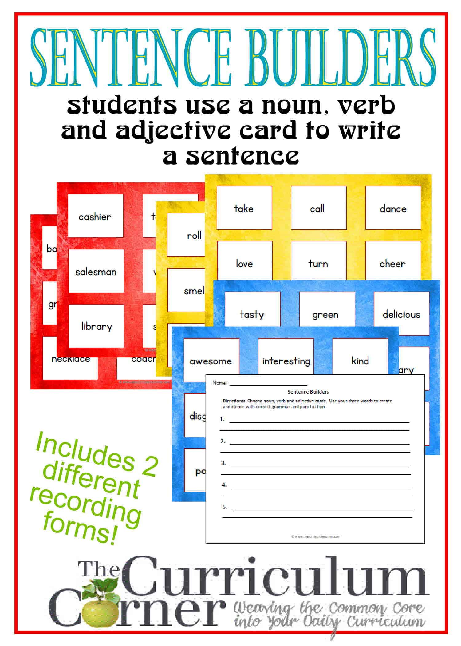Free Print Vocabulary Building Worksheet