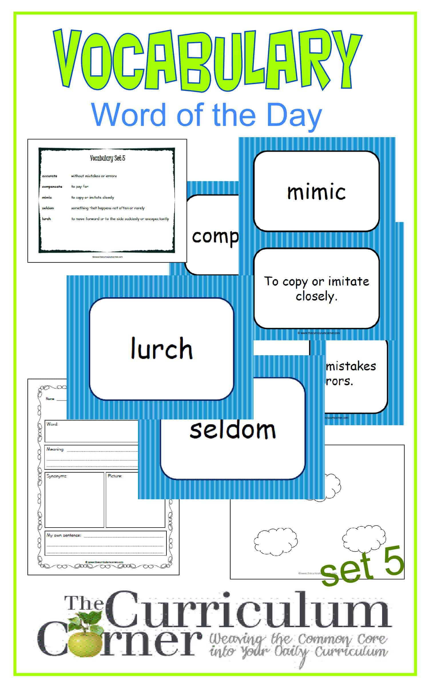 Vocabulary Word Of The Day Set 5