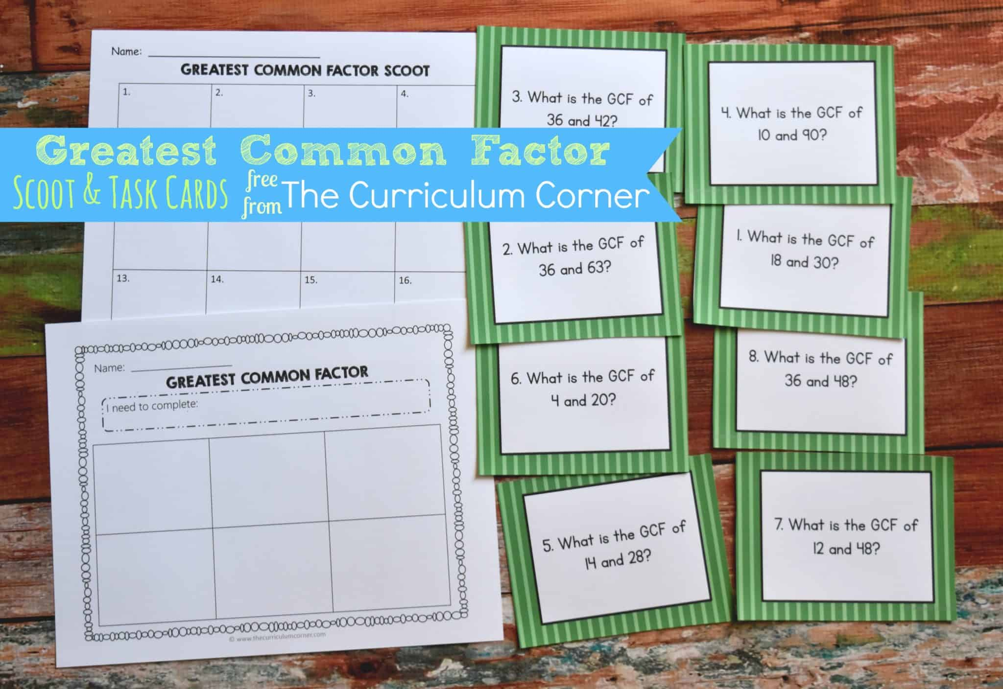 Greatest Common Factor Scoot