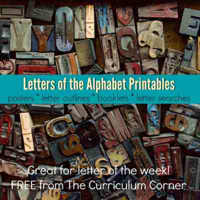Letters of the Alphabet Resources