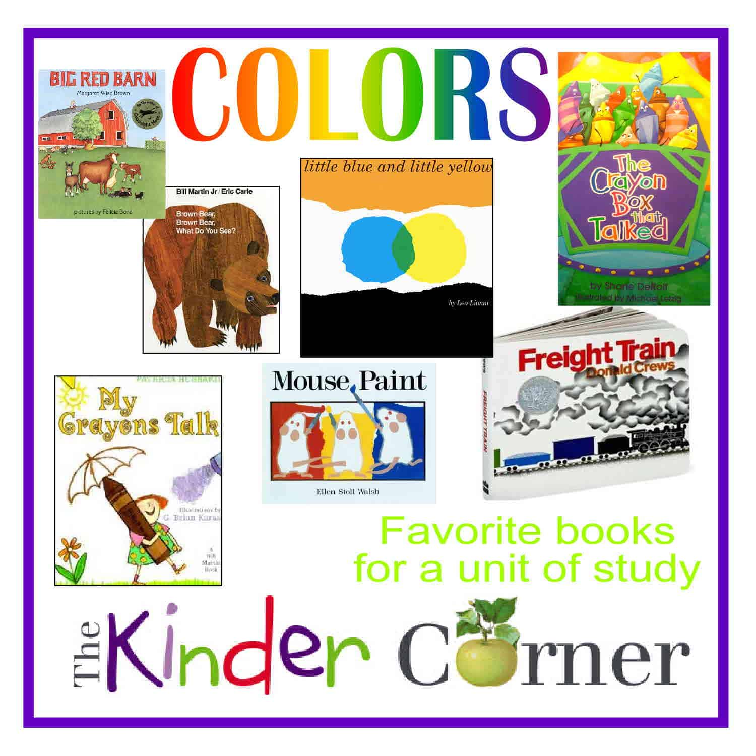 Unit study colors preschool - Books Ideas To Accompany A Colors Unit Of Study