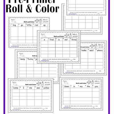Dolch Pre-Primer Roll & Color