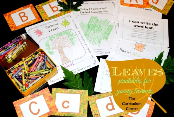 Leaves printable activities for young learners free from The Curriculum Corner