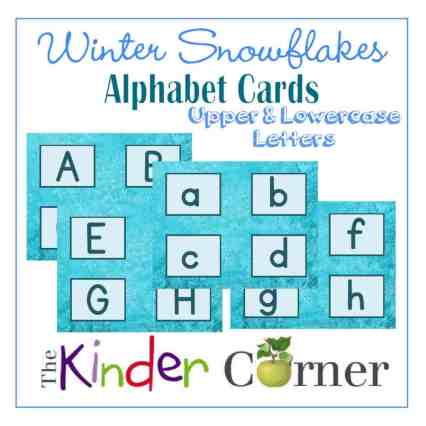 Snowflake Themed Upper and Lowercase Alphabet Matching Cards FREE from The Curriculum Corner | Great for winter or your Frozen fan!