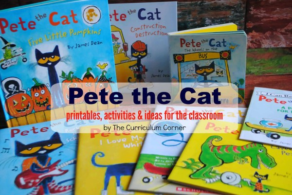 Pete the Cat Printables, Activities & more for the classroom | FREE from The Curriculum Corner