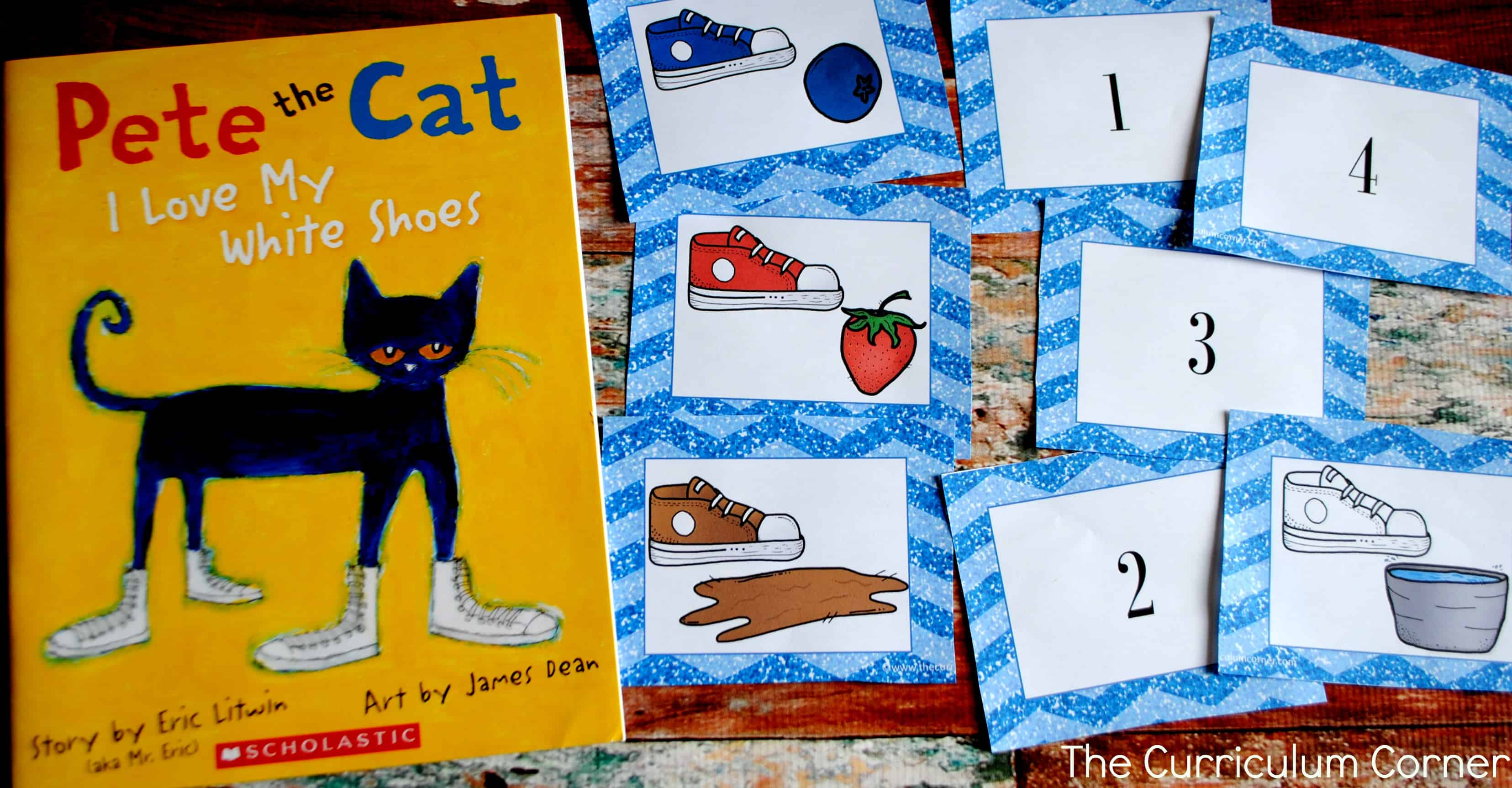 photo about Pete the Cat Shoes Printable titled Pete the Cat Supplies - The Kinder Corner