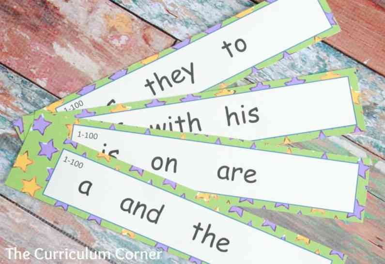FREEBIE! Fluency collection for kindergarten - fry word fans & many other free resources! The Curriculum Corner