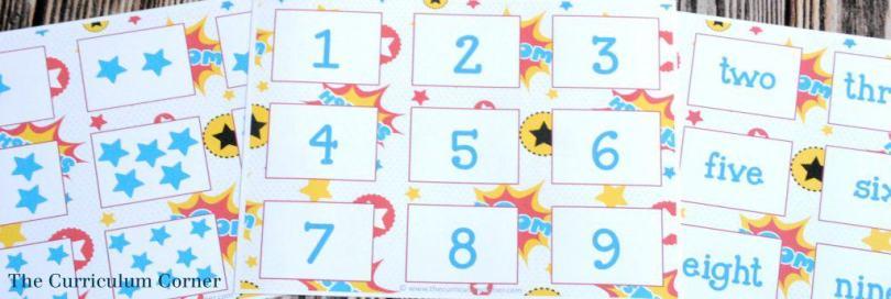 FREE! 14 FREE Superhero Math & Literacy Centers from The Curriculum Corner   kindergarten & 1st grade classrooms