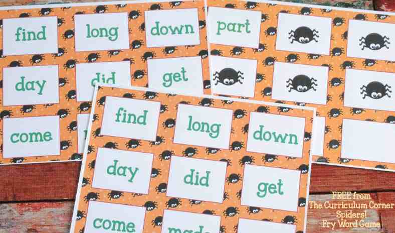 Fry Word Game FREE COLLECTION! 20 Halloween Themed Math & Literacy Centers from The Curriculum Corner