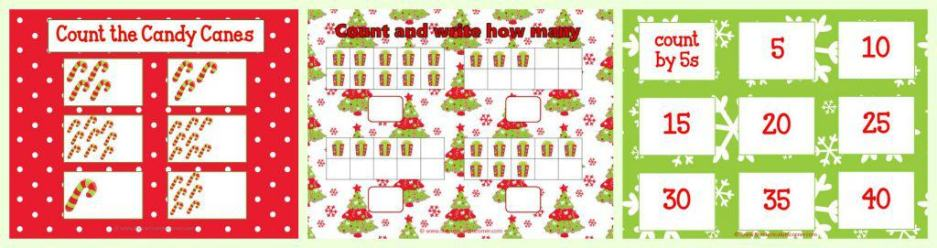 FREE Christmas Centers for Math & Literacy FREE from The Curriculum Corner