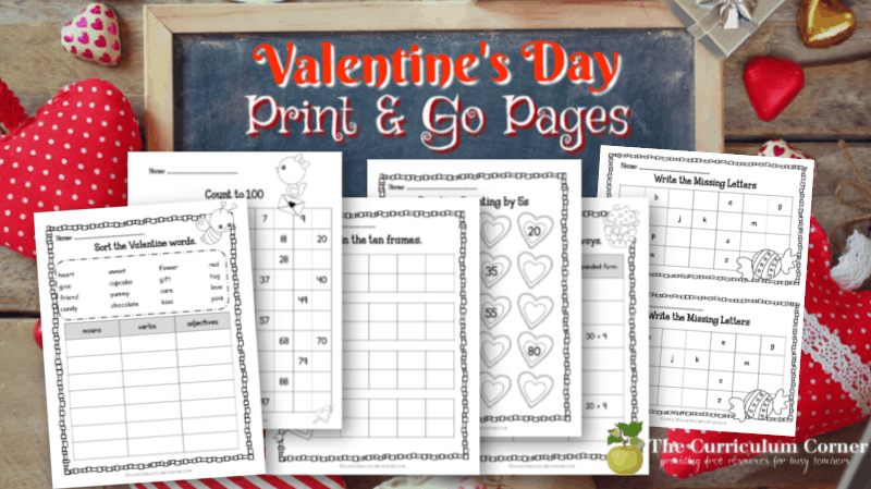 Valentine's Day No Prep Pages