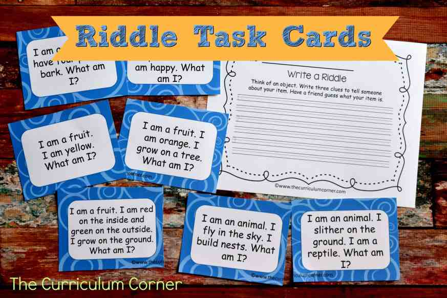 FREE Riddle Task Cards (Inferencing Activities) 2