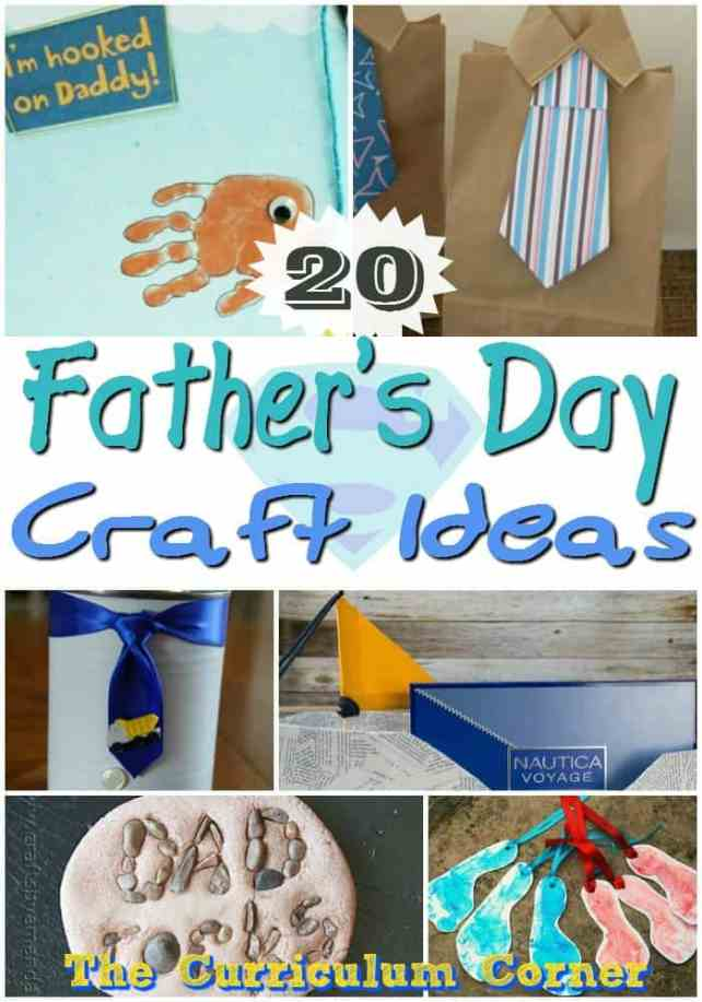 20 Father's Day Craft Ideas from The Curriculum Corner | Father's Day Crafts