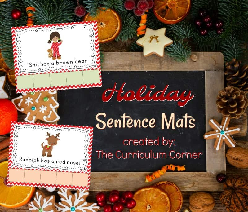 This set of Christmas scrambled sentences provides holiday reading practice for your kindergarten students.