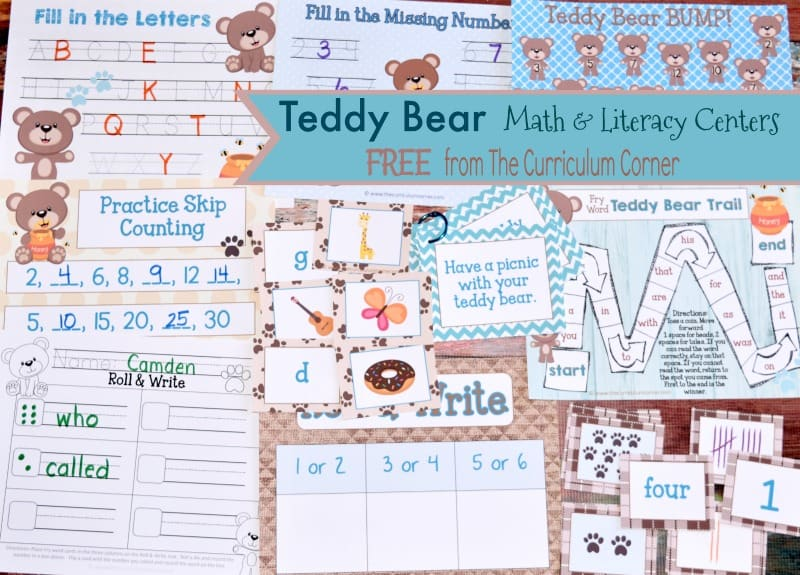 Use these teddy bear centers to help you plan engaging math and literacy centers for your classroom.