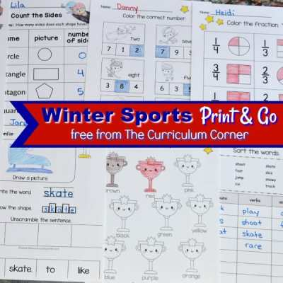 Winter Sports Print & Go Pages