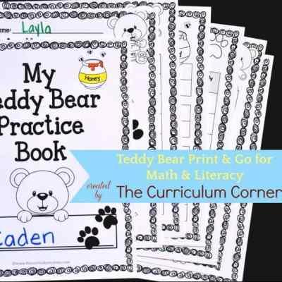 Teddy Bear Print & Go Pages