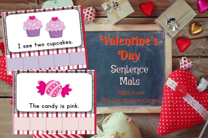 This set of Valentine's Day sentence mats provides free Valentine's Day scrambled sentences for your kindergarten classroom.
