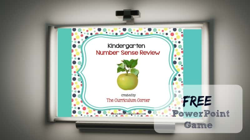 This Kindergarten Number Sense Review Game is designed to give your students practice with kindergarten standards throughout your unit of study.