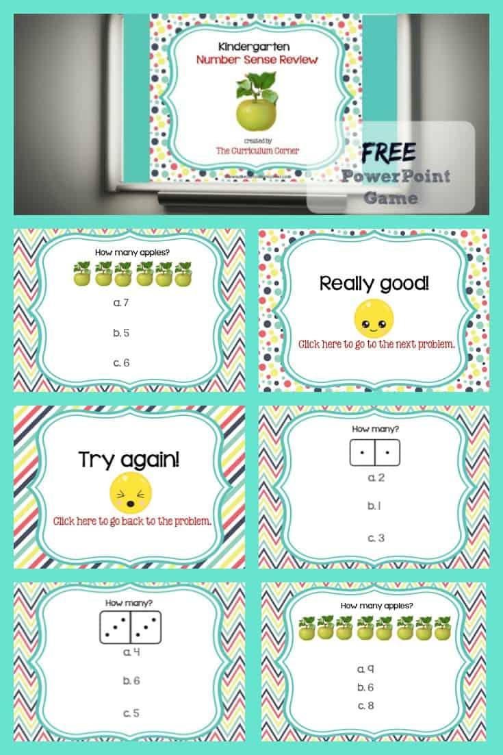 Review Game: Kindergarten Number Sense - The Kinder Corner