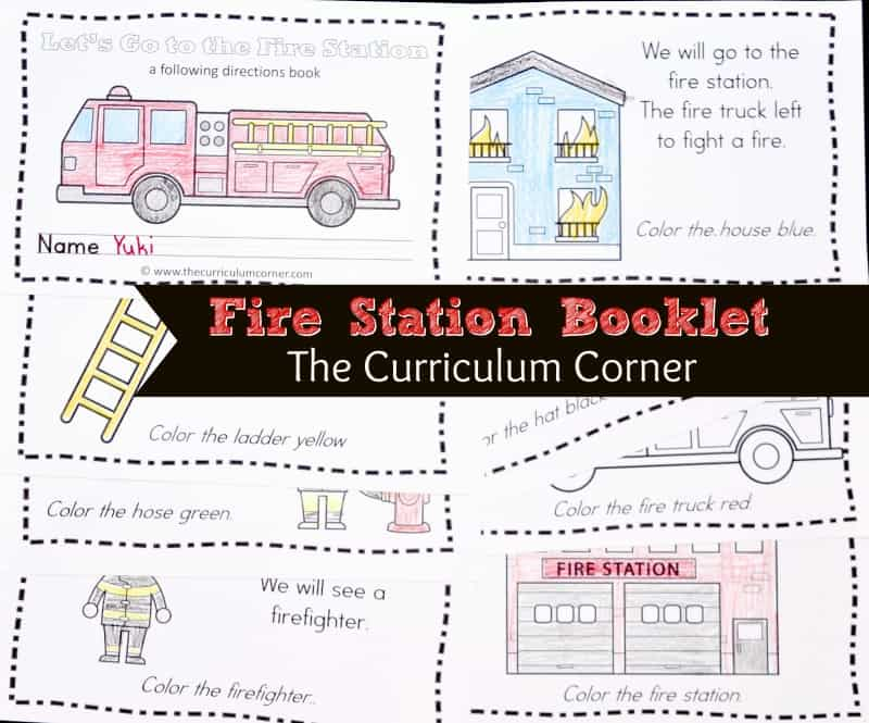 This simple firefighter booklet is perfect for your kinders! It is a great free addition to your focus on community helpers.