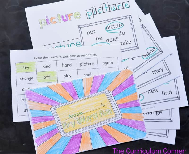 These second 100 Fry Word sight word practice booklets are designed to provide beginning of the year practice for your students.