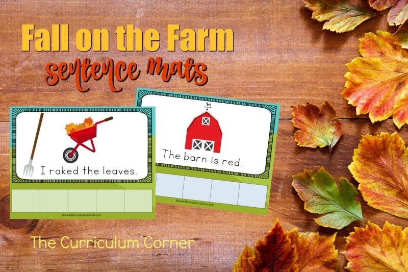 This set of fall farm scrambled sentence mats provides an engaging and fun literacy center for your kindergarten classroom.