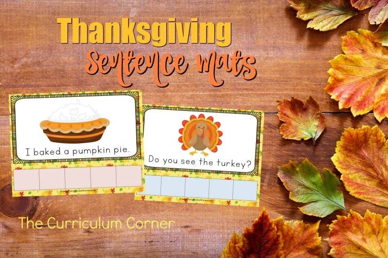 This set of Thanksgiving scrambled sentence mats provides an engaging and fun literacy center for your kindergarten classroom.