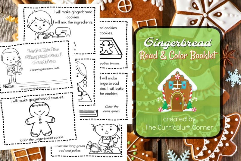 This simple gingerbread booklet is perfect for your kinders! It is a great free addition to your December plans.