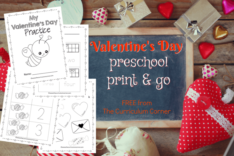 These free Valentine preschool pages are print and go pages designed to give your preschool and prekindergarten students seasonal practice.