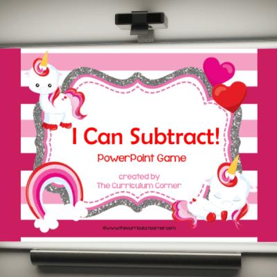 Valentine Subtraction Computer Game