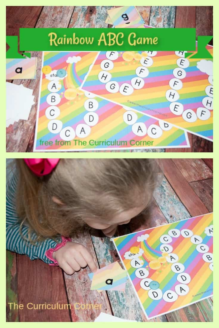 This rainbow alphabet game will be a fun addition to your early learning centers this March, especially for St. Patrick's Day.