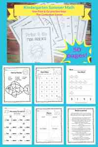 Kinder summer math practice booklet