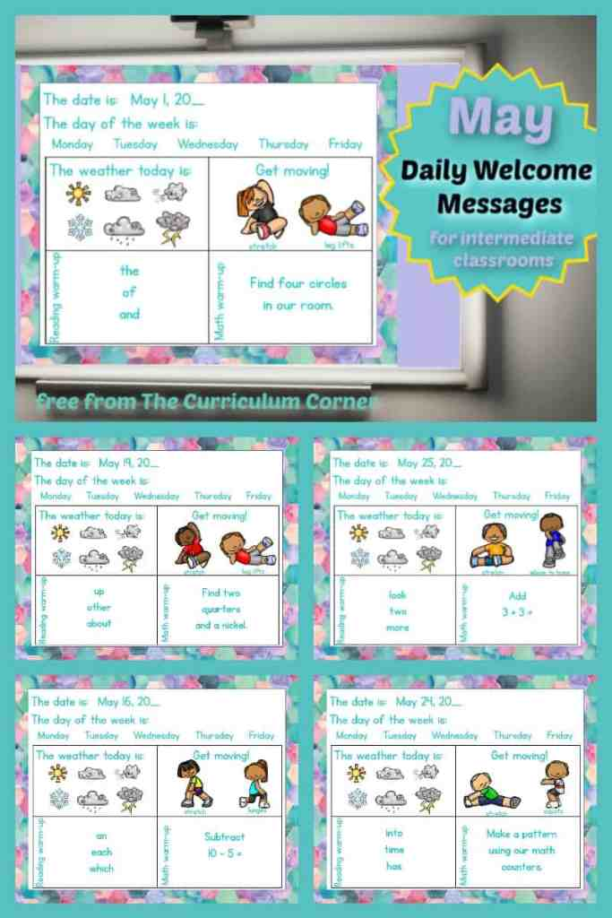 Daily Welcome Messages for May