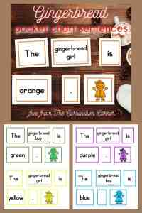 gingerbread pocket chart sentences