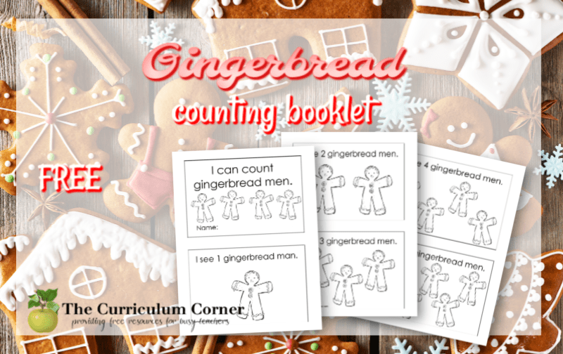 gingerbread counting booklet