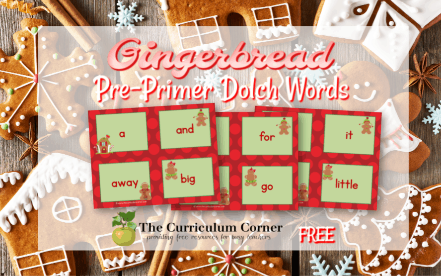 These Gingerbread Dolch Words will be a fun addition to your kindergarten classroom this December.
