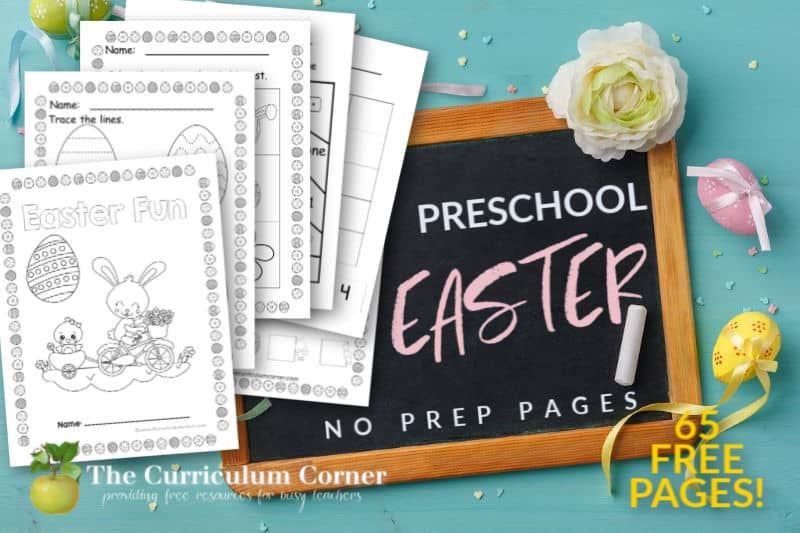 free Easter preschool pages