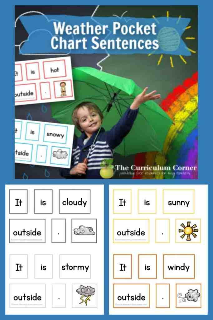 Weather Pocket Chart Sentences