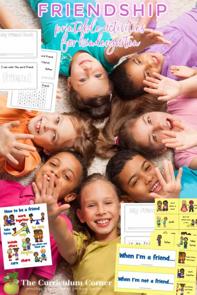 These free friendship lesson plans and printables will help children build friendships in the classroom. Designed for kindergarten classrooms.