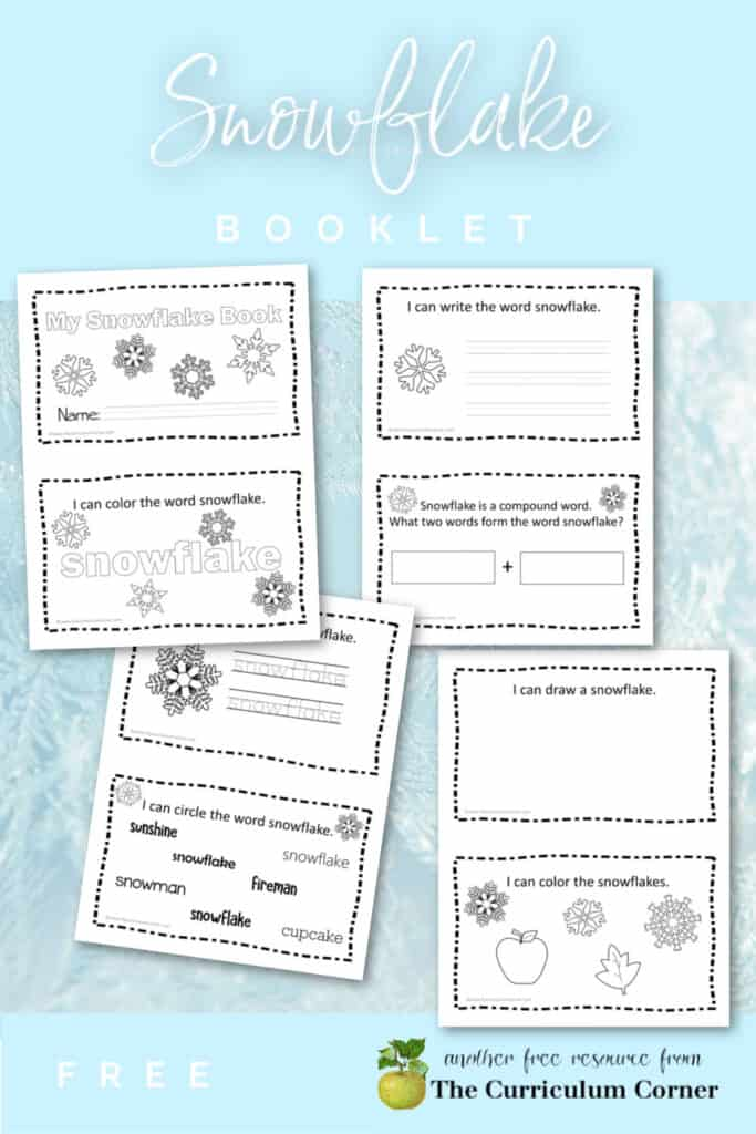 Download this snowflake booklet for early readers to add to your winter collection in your classroom. Free from The Curriculum Corner.
